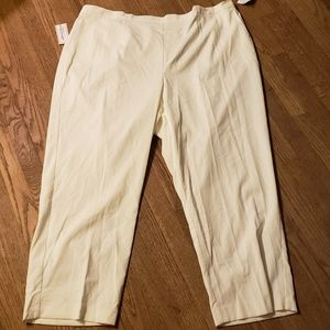 Alfred Dunner cream corduroy pants. Size 24w